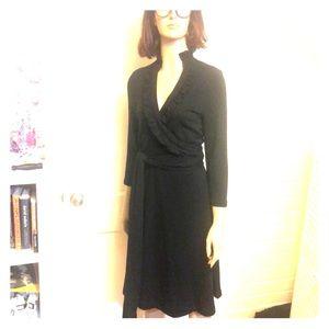 Banana Republic Black Wrap Dress, S
